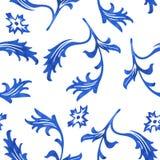 Teste padrão sem emenda da porcelana do vetor no fundo branco Imagem de Stock Royalty Free