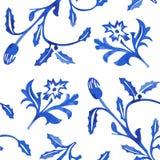 Teste padrão sem emenda da porcelana do vetor no fundo branco Imagens de Stock