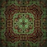 Teste padrão sem emenda da quadriculação no teste padrão de mosaico psicadélico da flor oriental do estilo para o papel de parede ilustração stock