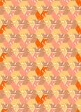 Teste padrão sem emenda da raposa do vetor Foto de Stock Royalty Free
