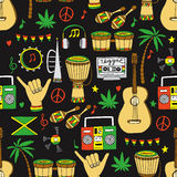 Teste padrão sem emenda da reggae ilustração do vetor