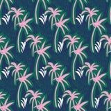 Teste padrão sem emenda da repetição com palmeira e o pinea tropicais Imagens de Stock