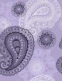 Teste padrão sem emenda da repetição de Paisley do Henna delicado Fotos de Stock Royalty Free