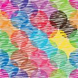 Teste padrão sem emenda da silhueta da cor do círculo ilustração stock