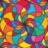 Teste padrão sem emenda da simetria colorida da bola de Tai Ji Imagem de Stock