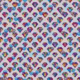 Teste padrão sem emenda da simetria colorida do diamante Imagens de Stock Royalty Free