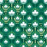 Teste padrão sem emenda da simetria do ícone da bandeira de Macau ilustração stock