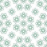 Teste padrão sem emenda da simetria do círculo do verde da forma da ramadã ilustração royalty free