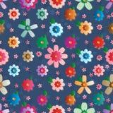 Teste padrão sem emenda da simetria do efeito da flor ilustração royalty free