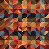 Teste padrão sem emenda da simetria do estilo da decoração da estrela do triângulo ilustração royalty free