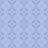 Teste padrão sem emenda da simetria do estilo da janela da estrela do hexágono ilustração royalty free