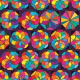Teste padrão sem emenda da simetria do raio do estilo da forma ilustração stock