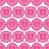 Teste padrão sem emenda da simetria da forma do diamante do rosa do raio do amor ilustração stock