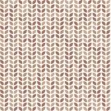 Teste padrão sem emenda da sucata com folhas marrons Imagens de Stock Royalty Free