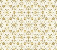 Teste padrão sem emenda da tela do vetor do laço com flores Imagens de Stock Royalty Free