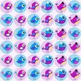 Teste padrão sem emenda da tela dos pássaros Foto de Stock Royalty Free