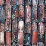 Teste padrão sem emenda da telha de telhas cerâmicas antigas Imagem de Stock