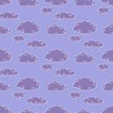 Teste padrão sem emenda da tempestade das nuvens Fotografia de Stock Royalty Free