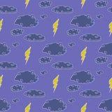 Teste padrão sem emenda da tempestade das nuvens Imagem de Stock