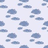 Teste padrão sem emenda da tempestade das nuvens Foto de Stock
