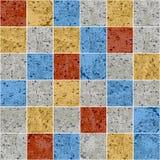 Teste padrão sem emenda da textura colorida do grunge da telha do quadrado do mosaico do granito, vetor ilustração stock