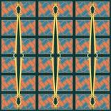 Teste padrão sem emenda da textura diagonal azul e alaranjada da espiral do tijolo ilustração do vetor