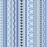 Teste padrão sem emenda da textura dos corações e dos pontos do vetor Imagens de Stock Royalty Free
