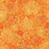Teste padrão sem emenda da textura floral alaranjada dourada Imagens de Stock
