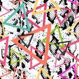 Teste padrão sem emenda da textura da pele de serpente cópia azul roxa cor-de-rosa alaranjada magenta preta, parte traseira geomé ilustração do vetor