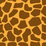 Teste padrão sem emenda da textura da pele do girafa ilustração do vetor