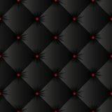 Teste padrão sem emenda da textura preta de estofamento Imagens de Stock Royalty Free