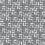 Teste padrão sem emenda da textura sentido horário branca da telha da espiral do tijolo ilustração stock