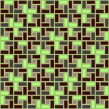 Teste padrão sem emenda da textura sentido horário verde da telha da espiral do tijolo ilustração stock