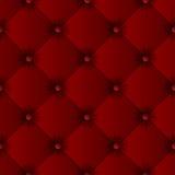 Teste padrão sem emenda da textura vermelha do sofá Foto de Stock Royalty Free