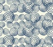 Teste padrão sem emenda da tintura do laço do vetor Cópia tirada mão do shibori ilustração stock