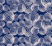 Teste padrão sem emenda da tintura do laço do vetor Cópia tirada mão do shibori ilustração do vetor