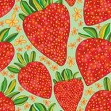 Teste padrão sem emenda da tração do amor da morango Imagens de Stock
