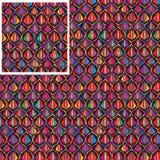 Teste padrão sem emenda da tulipa colorida de Ogee ilustração stock