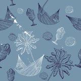 Teste padrão sem emenda da viagem do mar. Ilustração do Vetor