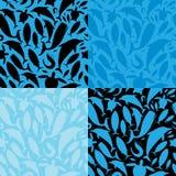 Teste padrão sem emenda da vida de mar Imagens de Stock Royalty Free