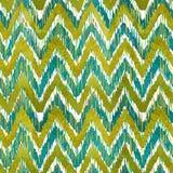 Teste padrão sem emenda da viga do ikat da aquarela Watercolour verde e azul Coleção étnica boêmia ilustração do vetor