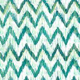 Teste padrão sem emenda da viga do ikat da aquarela Watercolour verde e azul Coleção étnica boêmia ilustração royalty free