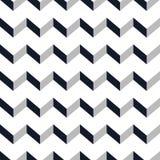 Teste padrão sem emenda da viga Ziguezague monocromático no fundo branco Imagem de Stock Royalty Free