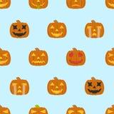 Teste padrão sem emenda das abóboras de Halloween Foto de Stock Royalty Free