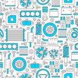 Teste padrão sem emenda das auto peças sobresselentes Imagens de Stock Royalty Free