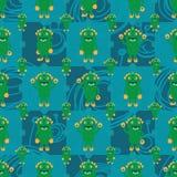 Teste padrão sem emenda das bactérias da simetria de Dino do monstro dos desenhos animados Fotografia de Stock