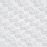 Teste padrão sem emenda das barras de prata Imagem de Stock