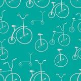 Teste padrão sem emenda das bicicletas Bicicletas Imagens de Stock
