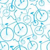 Teste padrão sem emenda das bicicletas Bicicletas Fotografia de Stock Royalty Free