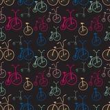 Teste padrão sem emenda das bicicletas Bicicletas Fotografia de Stock